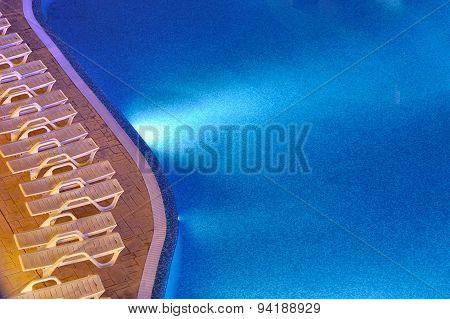 Swimming Pool In Night Vision