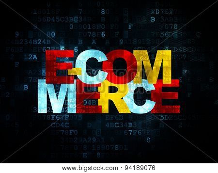 Finance concept: E-commerce on Digital background