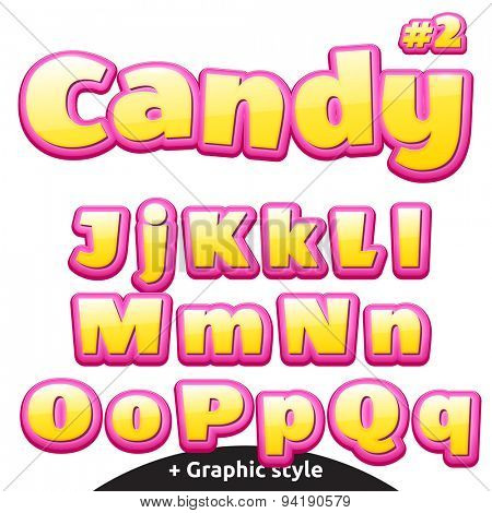Funny children's candy letters.