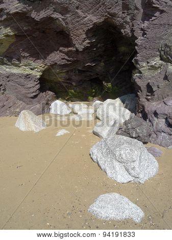 Cave Within Beach Cliffs