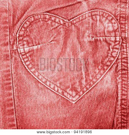 red old velvet jeans