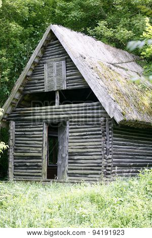 Abandoned Hunting Lodge Middle Of The Forest