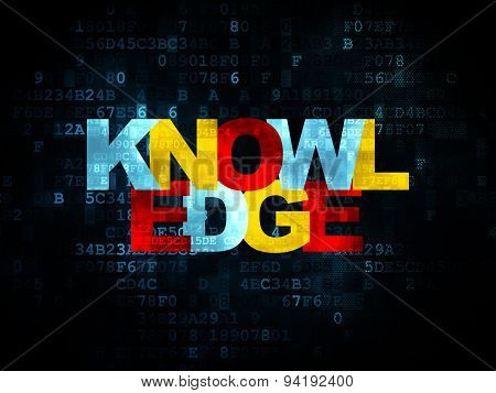 Learning concept: Knowledge on Digital background