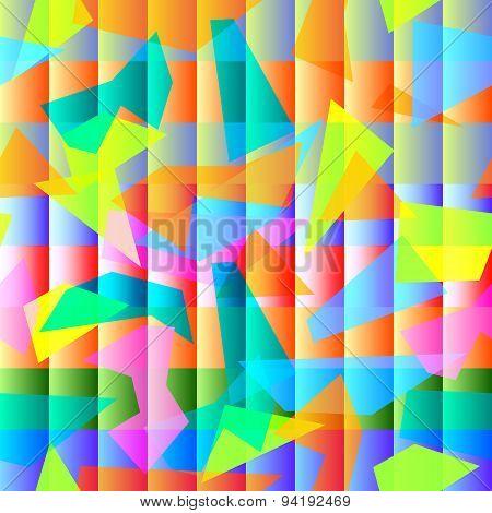Geometric Semless Colorful Pattern