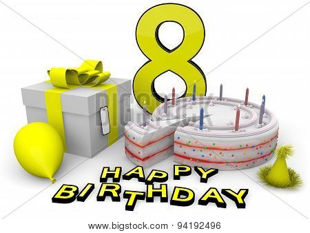 Happy Birthday In Yellow