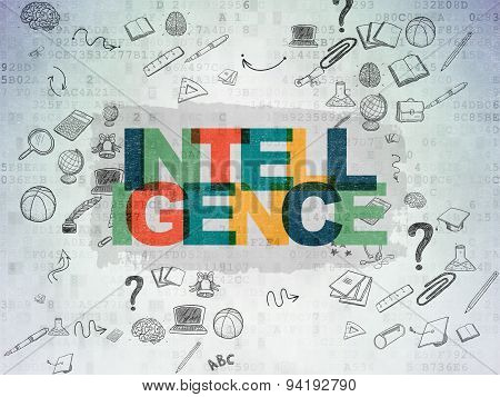 Education concept: Intelligence on Digital Paper background