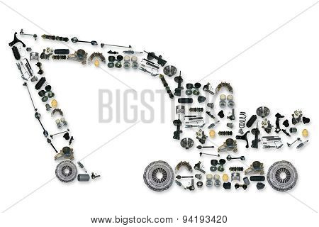 spare parts for truck or excavator