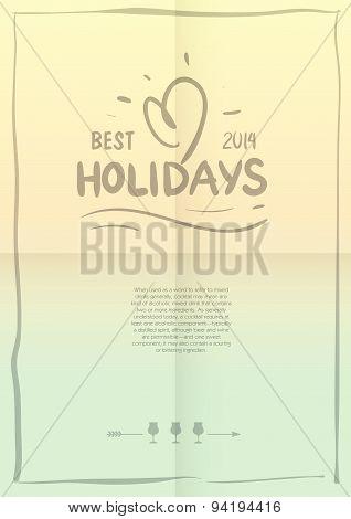Vector Illustration. Summer Holidays Poster.