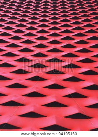 Metallic Surface Painted In Red