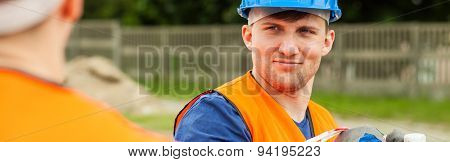 Handsome And Young Worker