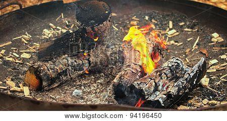 Flames,pot,burning,burning Wood,ash