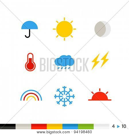 Different flat design web and application interface icons collection. 