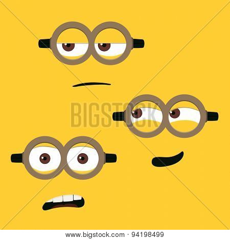 Different cute faces vector illustration