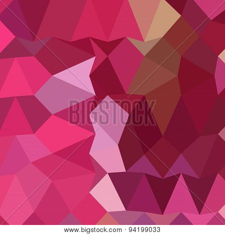 Brilliant Rose Pink Abstract Low Polygon Background