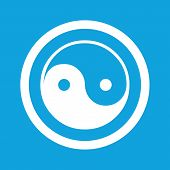 stock photo of ying yang  - Ying yang symbol in circle - JPG