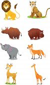 stock photo of deer family  - Visualization of Wild Animals isolated on a white background - JPG