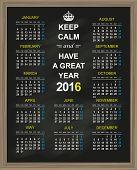 foto of monday  - English calendar for year 2016 - JPG
