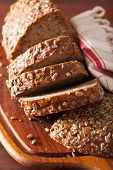 foto of whole-grain  - healthy whole grain bread with carrot and seeds - JPG