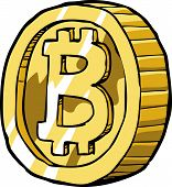 image of bitcoin  - Bitcoin on a white background vector illustration - JPG