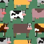 pic of cow  - Cow seamless pattern - JPG
