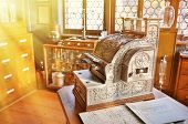 picture of cash register  - Vintage cash register in an old pharmacy - JPG