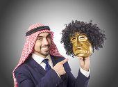 foto of arab man  - Arab man hypocrisy concept - JPG
