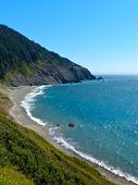 stock photo of shoreline  - Pacific Ocean shoreline along the southern Oregon Coast - JPG