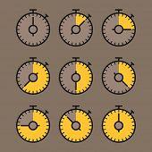 picture of chronometer  - Vector chronometer clip - JPG