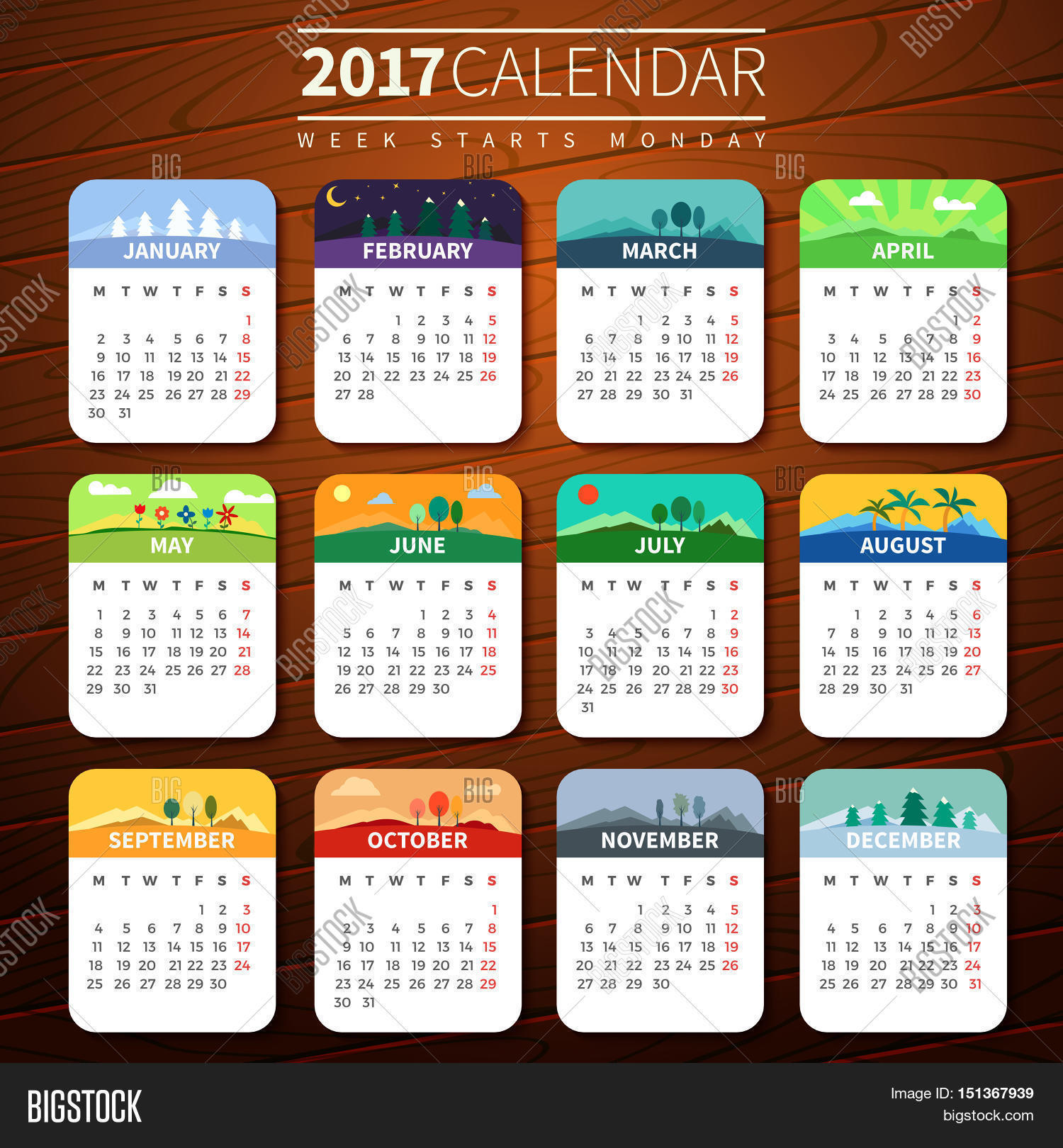 how to change background on one calendar