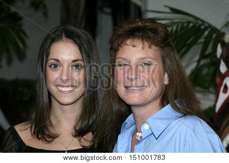 Eliza Orlins and Twila Tanner at the finale for 'Survivor Vanuatu Islands of Fire' held at the CBS Television City in Hollywood, USA on December 12, 2004.