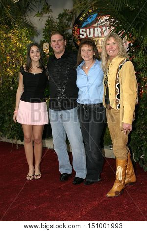 Chris Daugherty, Eliza Orlins, Scout Cloud Lee and Twila Tanner at the finale for 'Survivor Vanuatu Islands of Fire' held at the CBS Television City in Hollywood, USA on December 12, 2004.