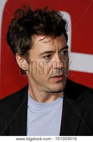 Robert Downey Jr. at the World premiere of 'The Shaggy Dog' held at the El Capitan Theatre in Hollywood, USA on March 7, 2006.