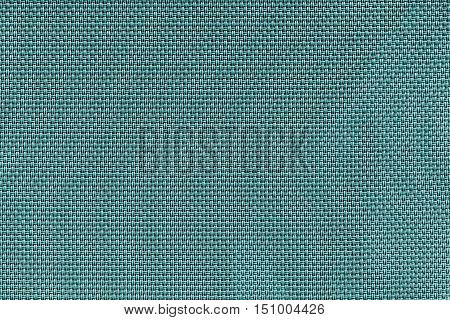corrugated texture of rough fabric of sea color with an interlacing of threads for a woven background and for wallpaper