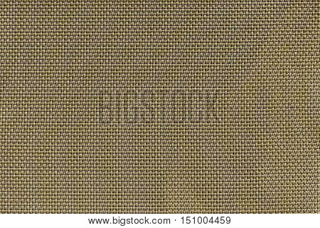 corrugated texture of rough fabric of khaki color with an interlacing of threads for a woven background and for wallpaper