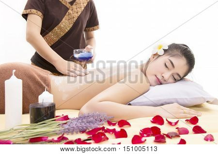 Women Pay Attention To Health And Beauty. The Spa Facial And Body Massage.