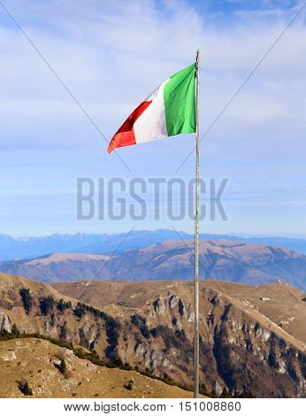 Italian Flag With The Colors Red White And Green Svontola High A