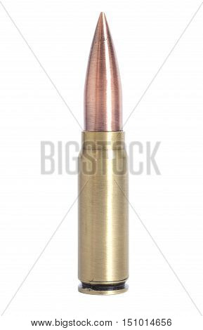 Bullet 9mm isolated on a white background