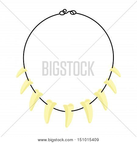 Tusk Necklace Vector