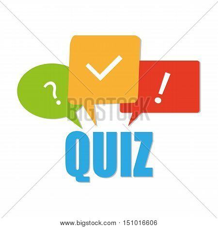Quiz related concept vector illustration. isolated on white background