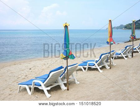 Beach Chair Phuket Andaman Sea Thailand