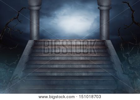 Image Of Stair And Pillar