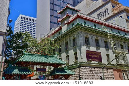 San Francisco; USA - july 13 2016 : Chinatown in the city center
