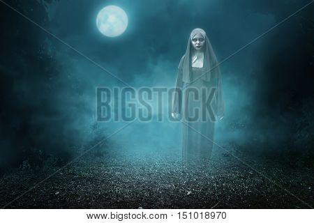 Spirit Nun Asian Woman Haunting