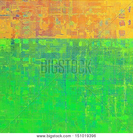 Grunge texture, aged or old style background with retro design elements and different color patterns: yellow (beige); brown; green; red (orange); purple (violet)