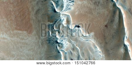 border dunes,abstract landscapes of deserts ,Abstract Naturalism,abstract photography deserts of Africa from the air,abstract surrealism,mirage in Sahara desert,fantasy forms of sand in the desert