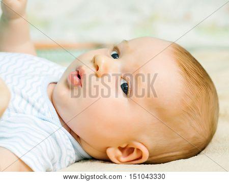 Cute Baby Boy Awake