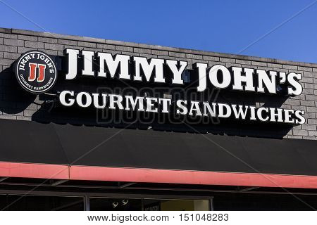 Indianapolis - Circa October 2016: Jimmy John's Gourmet Sandwich Restaurant.