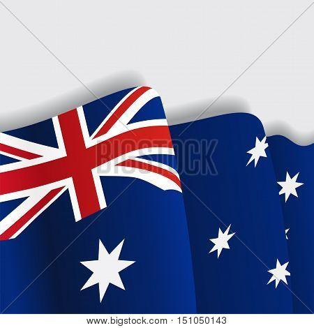 Australian waving Flag. Vector illustration Eps 8