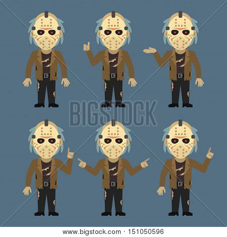 Vector Illustration, Maniac Shows and Indicates, Format EPS 8