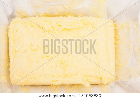 Butter block breakfast  ingredient food  object isolated